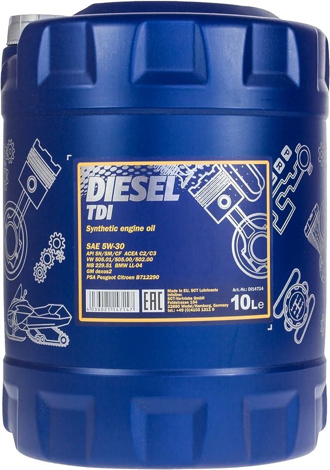 Mannol Mn7909 10 Öl Motoröl 10 Liter Auto