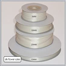 Ivoire Double Face Ruban Satin 3 mm 6 mm 10 mm 16 mm 25 mm 38 mm