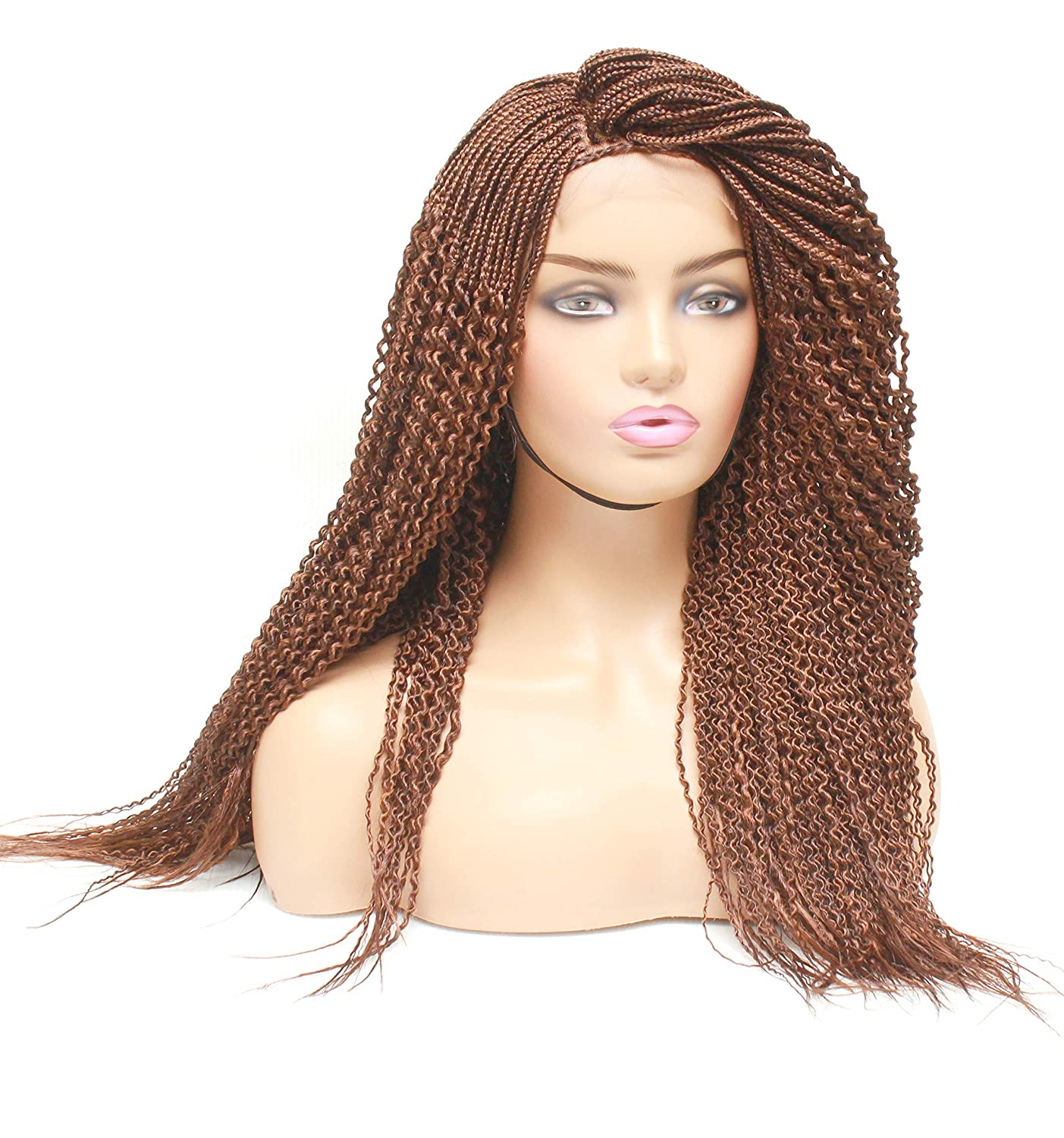 Braided Tucson Mall wigs for black women- Spiral twist Lace closure wig Same day shipping wig-
