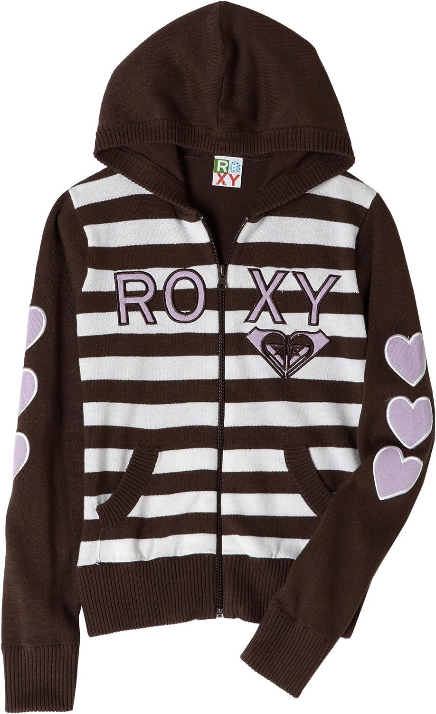 Roxy Big Girls' - Traffic Light Striped, Hooded Zip-Up Sweater