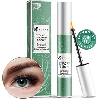 𝗣𝗥𝗘𝗠𝗜𝗨𝗠 Eyelash Growth Serum for Longer/Fuller/Thicker Lashes - Enhancer Serum for Lashes/Brows/Lash Extensions - Ophthalmologist/Dermatologist Developed