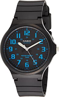 Casio Men's Black Dial Resin Band Watch - MW-240-2B, Analog, Quartz