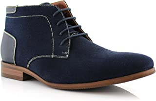 Raymond MFA806031 Mens Casual Brogue Mid-Top Lace-Up and Zipper Boots