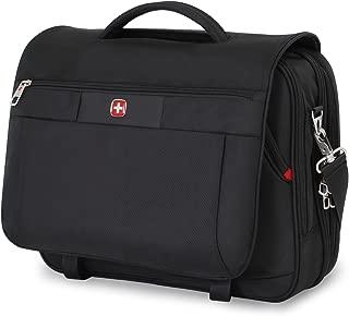 Swiss Gear SA8733 Black TSA Friendly ScanSmart Laptop Messenger Bag - Fits Most 15 Inch Laptops amd Tablets