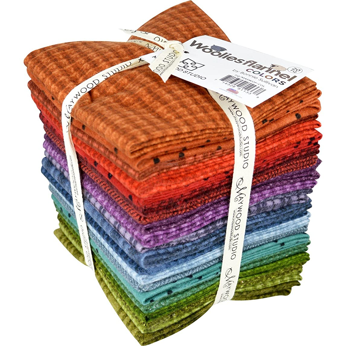 Woolies Flannel Colors Fat Quarter Bundle by Bonnie Sullivan from Maywood Studios - 20 Fat Quarters