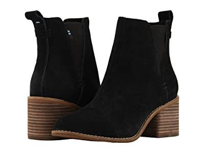 TOMS Esme (Black Suede) Women
