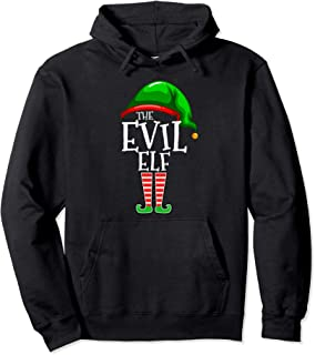 The Evil Elf Family Matching Group Christmas Gift Funny Pullover Hoodie