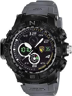 VILAM Youth Outdoor Sports Fashion Casual Multifunction Waterproof Analog Digital Black Dial Men's Watch
