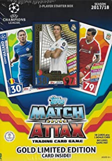 2017 2018 Topps UEFA Champions League Soccer Trading Card Game Sealed Two Player Starter Box with 38 Cards and a Bonus Cristiano Ronaldo Gold Limited Edition Card
