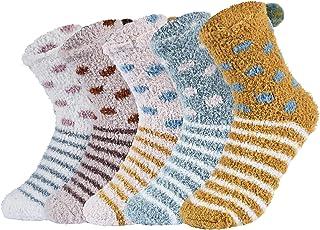 VBIGER, Calcetines de Piso Calcetines de Invierno Calientes para Mujer Calcetines Termicos de Mujer Vellón de Coral Abrigados