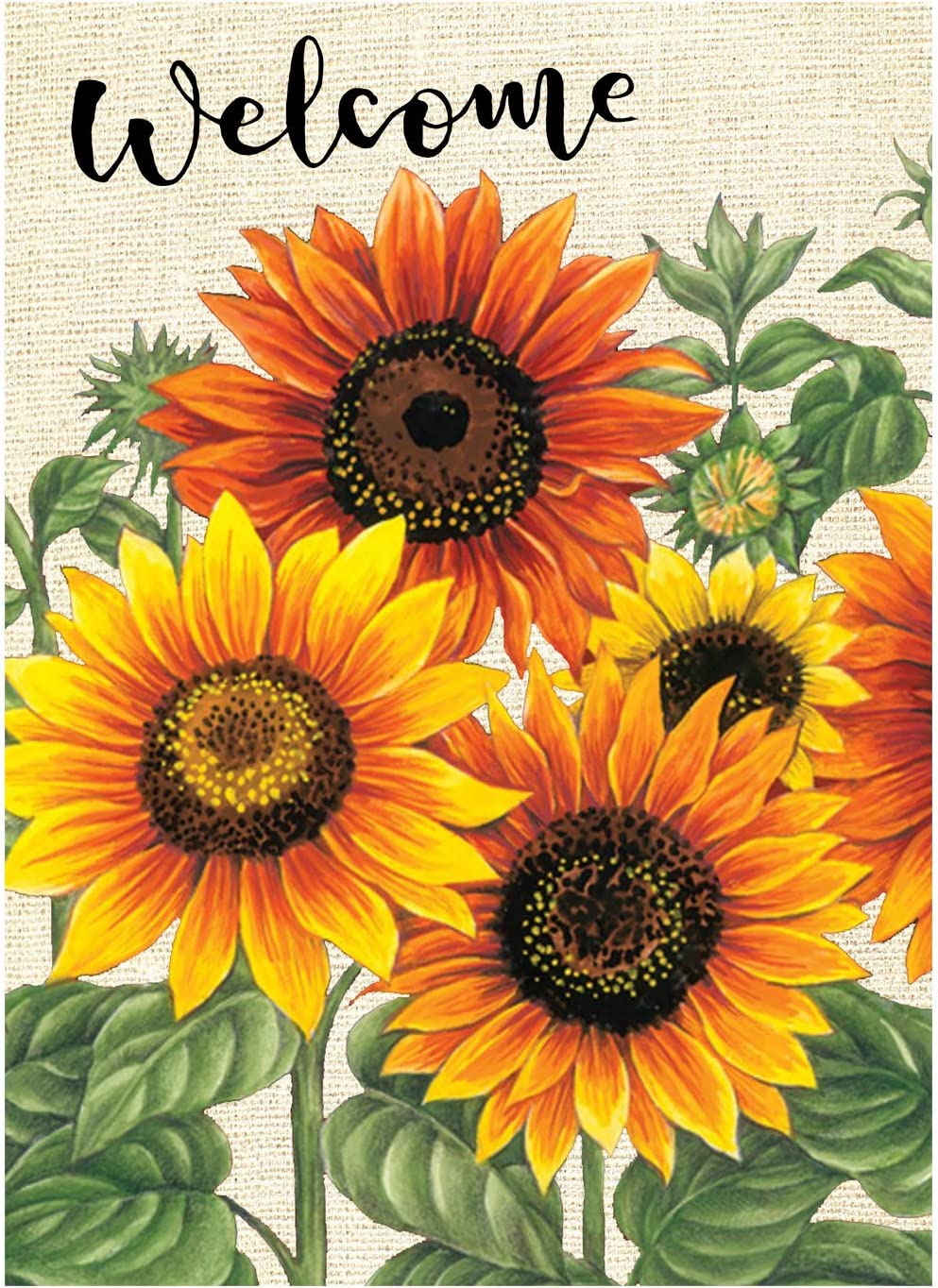 Wamika Welcome Sunflower Fall Autumn Sided Leaves B In stock Maple Double Safety and trust