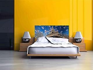 Cabecero Cama PVC Torre Eiffel | Medidas 150x60 cm | Fácil colocación | Decoración Habitación | Motivos paisajisticos | Naturaleza | Urbes | Multicolor | Diseño Profesional