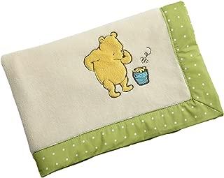 Disney My Friend Pooh Coral Fleece Blanket, Sage/Ivory