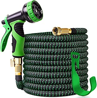 100 ft Expandable Garden Hose,Upgraded Leakproof Lightweight Garden Water Hose with 3/4