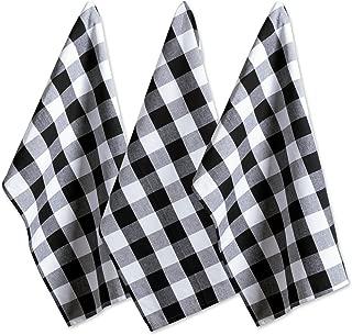 DII Cotton Buffalo Check Plaid Dish Towels, (20x30