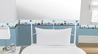 Nickelodeon - Cenefa de papel pintado autoadhesiva, 5 m, vinilo, azul, 15 x 4 x 4 cm