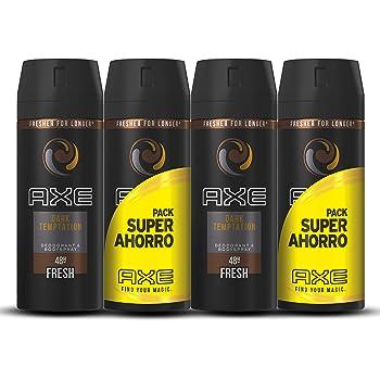 Axe Dark Temptation Pack Duplo Ahorro - 2 Paquetes de 2 x 150 ml (Total: 600 ml): Amazon.es: Belleza