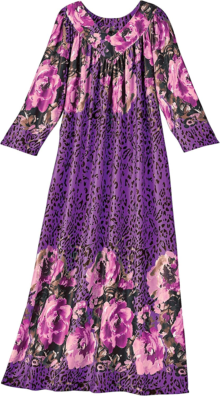 AmeriMark Hawaiian Muu Muu Caftan Casual House Dress Long Length with Pockets