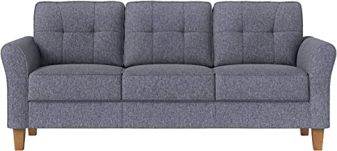VASAGLE Sofa, Couch for Living Room Classic Upholstered, Soft Surface, for Apartment Small Space Dorm, Solid Wood Frame an...