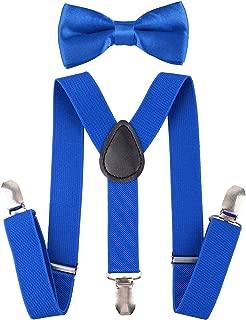 Kid's Suspender Bowtie Sets Adjustable Suspender with Bow Ties
