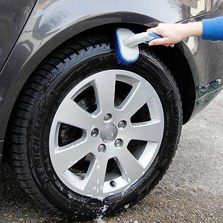 Michelin 92560 Reifenbürste Mit Ergonomisch Geformten Rutschhemmender Griff Auto