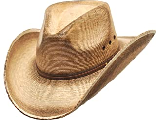 Western Express Pinch Front Palm Hat Size S Light Brown