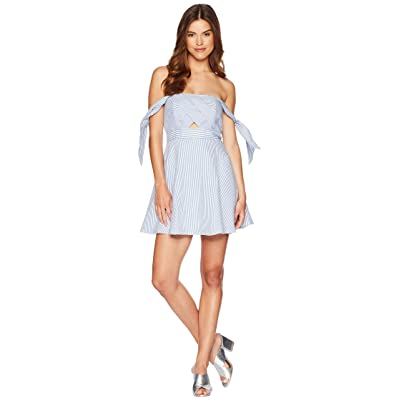 Bardot Linen Stripe Dress (Stripe) Women