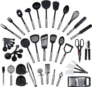 Ensemble de 42 pièces par KRONENKRAFT - set de cuisine en acier inoxydable et nylon, ensemble de gadgets de cuisine, set d...
