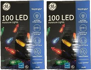 GE Mini Led Light Set 100 Lights Multi-Colored Bulbs Led (Two Packs of 100 Lights, Total of 200 Lights)