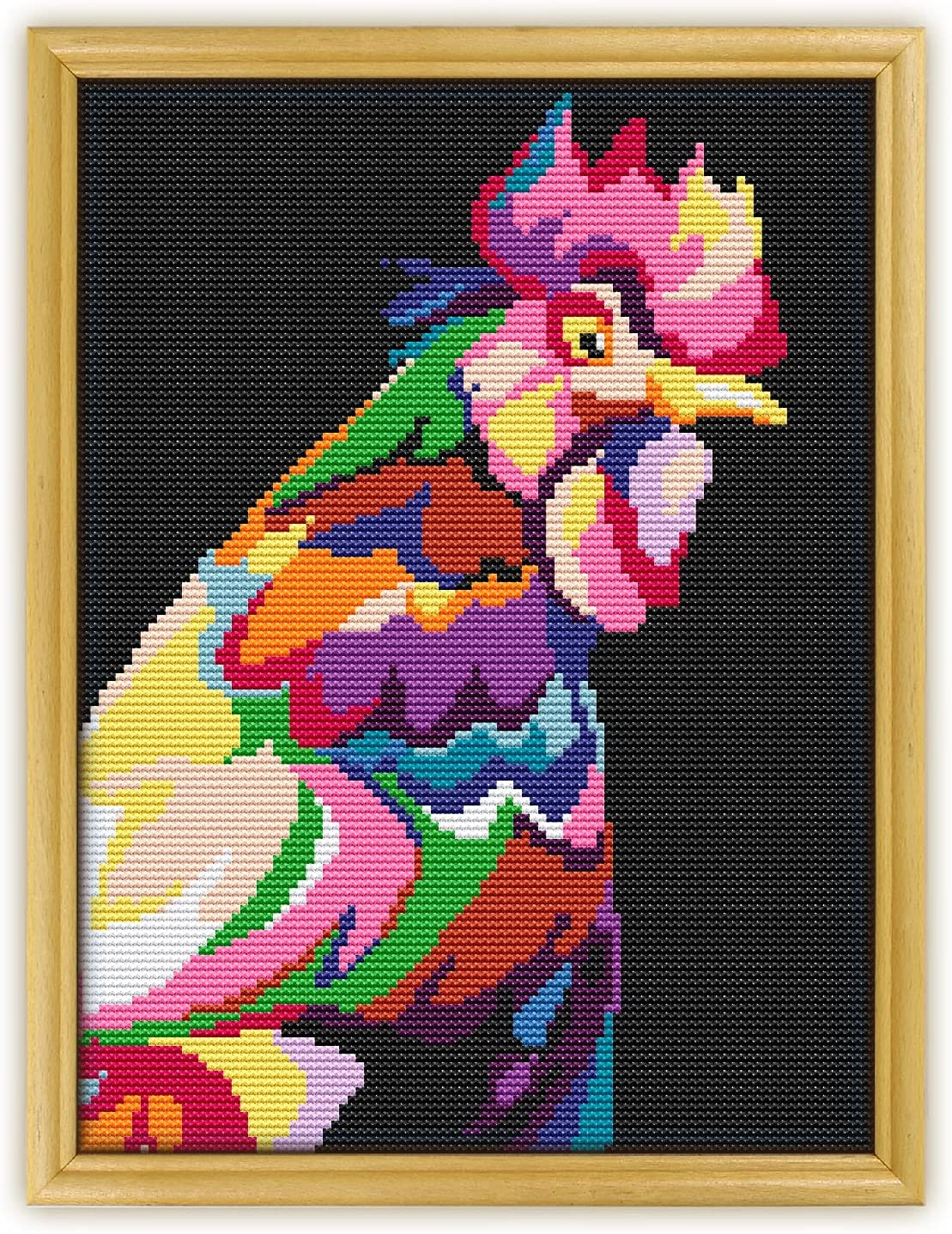 Rooster All items free shipping Abstract Animal K874 Counted Stitch Cross New sales KIT#3. Threads