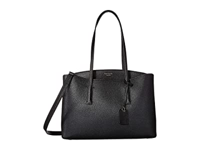 Kate Spade New York Margaux Large Work Tote (Black) Handbags