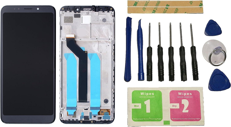 Flügel para Xiaomi Redmi 5 Plus Pantalla LCD pantalla Negro Táctil digitalizador Completo Pantalla ( con marco ) de Recambio & Herramientas