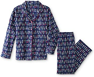 Joe Boxer Women's Plus Size 2-Piece Flannel Pajamas Shirt & Pant Set