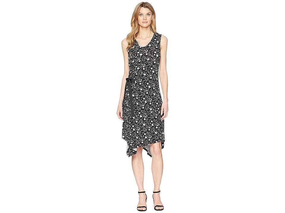 Ellen Tracy Ruched Dress (Mini Silhouette-Black) Women