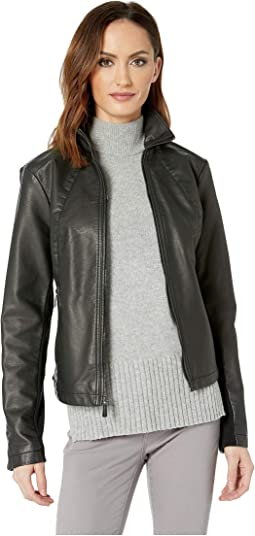 Zip Front Jacket w/ Knit Inset