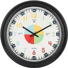 EFINITO Plastic Wall Clock (Black_14 Inch X 14 Inch X 2 Inch)