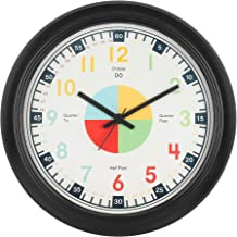Efinito 14 Inch Wall Clock That Makes Kids Learning Time Faster and Fun Teaching Wall Clock