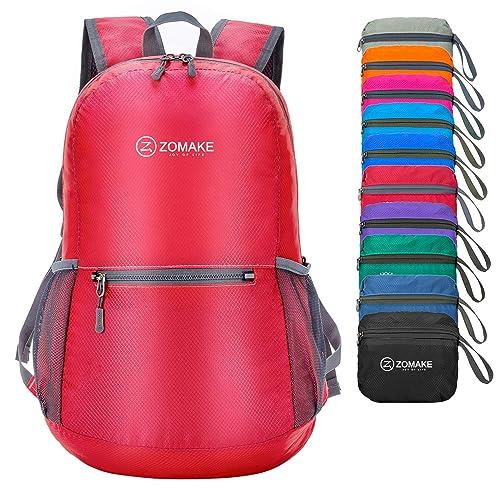 ZOMAKE Ultra Lightweight Foldable Backpack Water Resistant Hiking Daypack d13017b9d25af