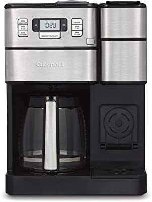"Cuisinart SS-GB1 Coffee Center Grind & Brew Plus Silver, 10.75""(L) x 11.73""(W) x 15.93""(H)"