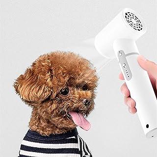 Secador de pelo inalámbrico para mascotas, secador de pelo para perros, secador de pelo de mano portátil, bajo nivel de ruido 2600 mAh recargable, 3 modos ajustables