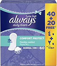 Always Daily Liners Comfort Protect, Normal, 60 Count