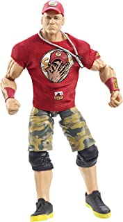 Mattel CHT61 WWE Elite Collection Series No. 37 - John Cena with Red Shirt, Dog Tags and Cap