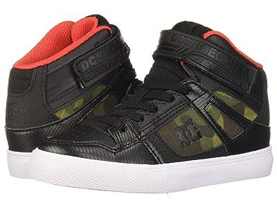 DC Kids Pure High-Top SE EV (Little Kid/Big Kid) (Camo) Boys Shoes