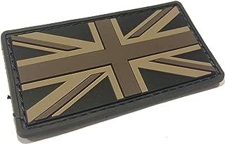 Black Union Jack British 3 X 1.5 Inch Tactical Us USA PVC Flag Uniform Patch