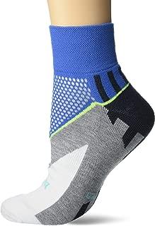 Balega Enduro V-Tech Quarter Socks for Men and Women (1 Pair), Ethereal Blue/White, Small