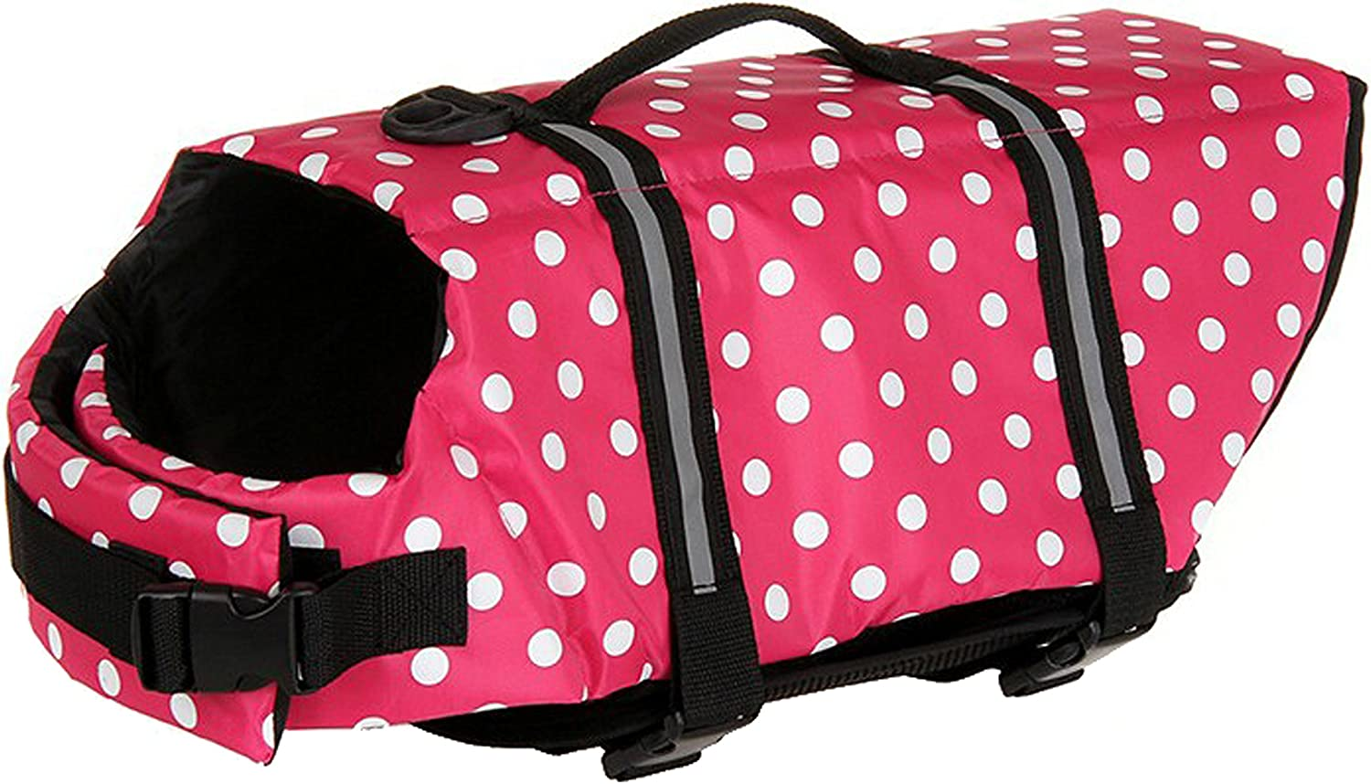 Astage Pet Supplies Doggy Lifejackets Swimming Support for Dog PinkDot XL