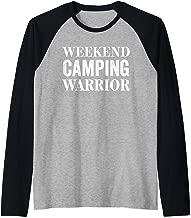 Weekend Camping Warrior Shirt,Outdoor Camp Hair Dont Care Raglan Baseball Tee