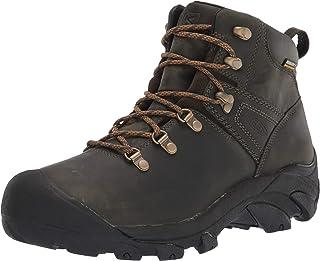 حذاء برقبة للرجال للمشي من الجلد المقاوم للماء ذو ارتفاع متوسط من KEEN