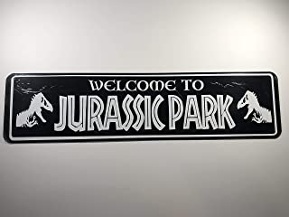 POPCultureSigns Welcome to Jurassic Park Aluminum Street Sign 24