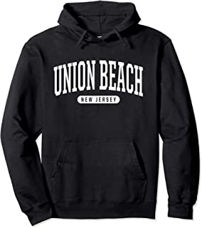 College Style Union Beach New Jersey Souvenir Gift Pullover Hoodie